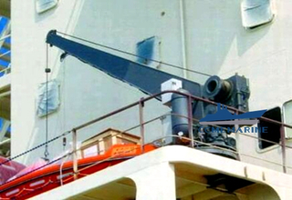 Marine Stiff Boom Vessel Crane Used at Vessel Deck Barge Crane